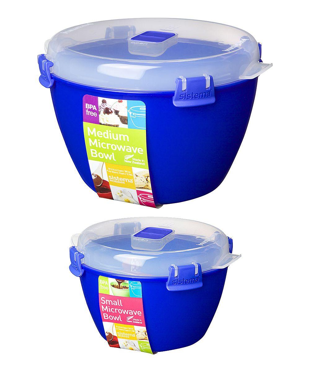 Blue Microwave Mixing Bowl Set