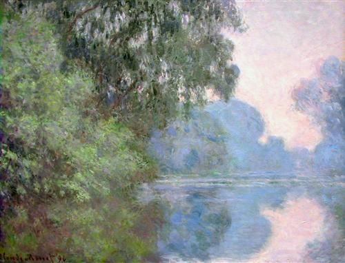 Morning on the Seine near Giverny - Claude Monet - WikiArt.org