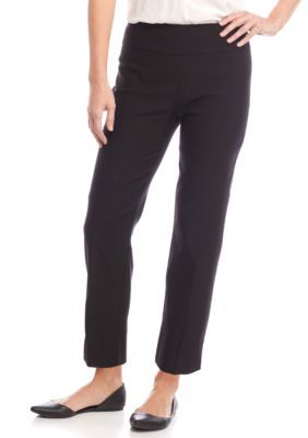 450dbeba4a24b7 New Directions Women's Petite Pull-On Millennium Ankle Slim Leg Pants -  Black - 14P