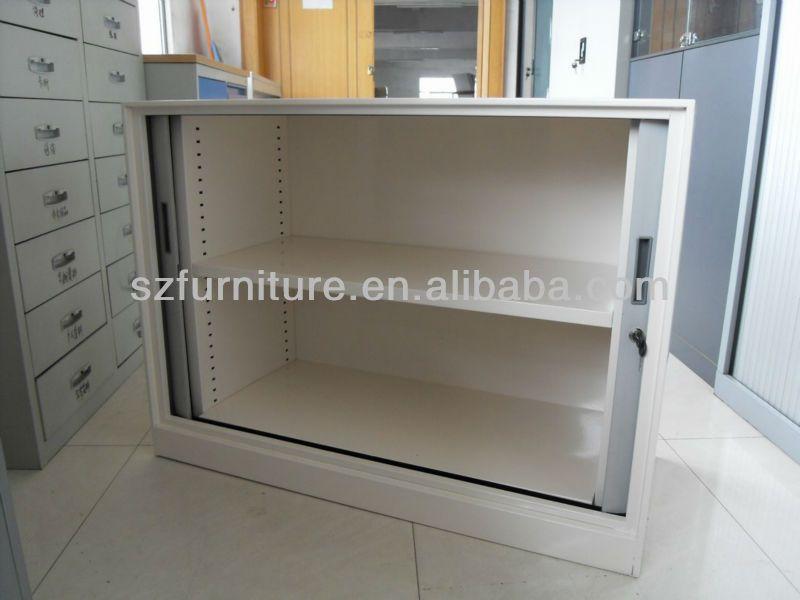 10mm Thin Edge Bending Steel Sliding Roller Shutter Door Cabinet