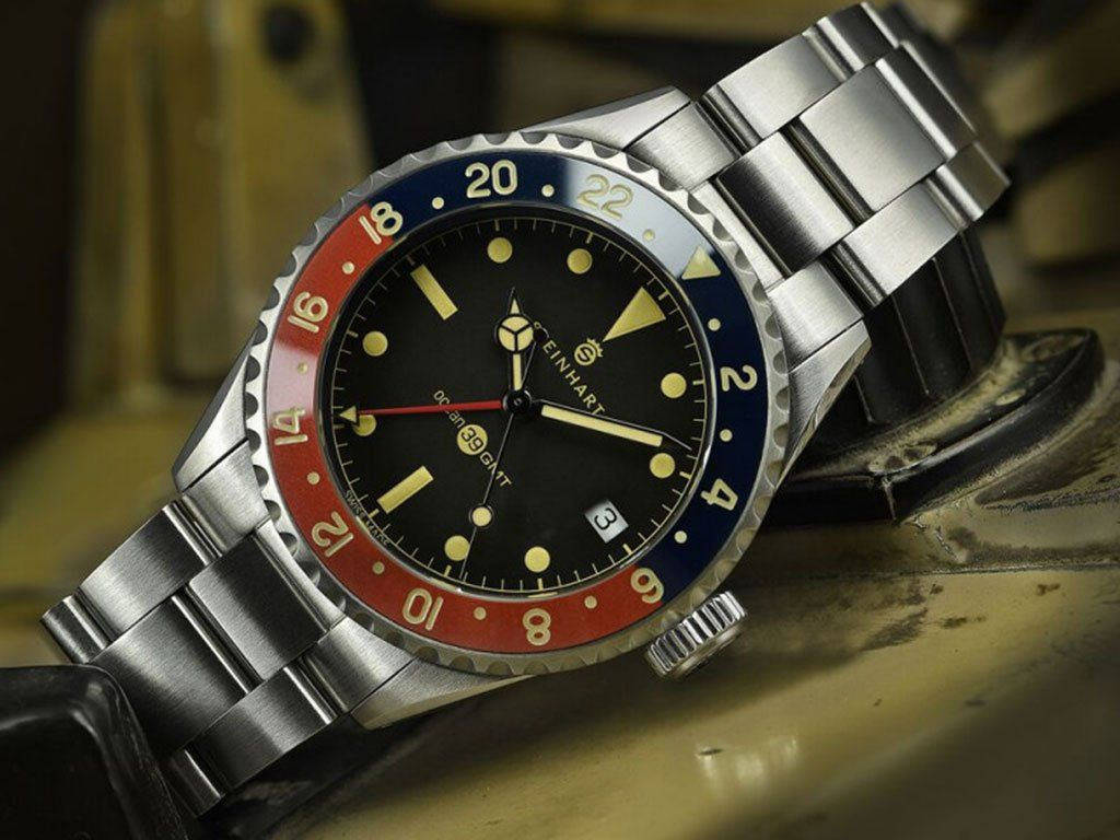 Ocean 39 Vintage Gmt Premium Blue Red Ceramic Gnomon Watches Retro Watches Steinhart Watch Watches For Men
