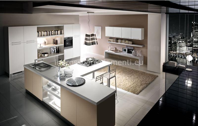 Risultati immagini per open space cucina con isola e parquet ...