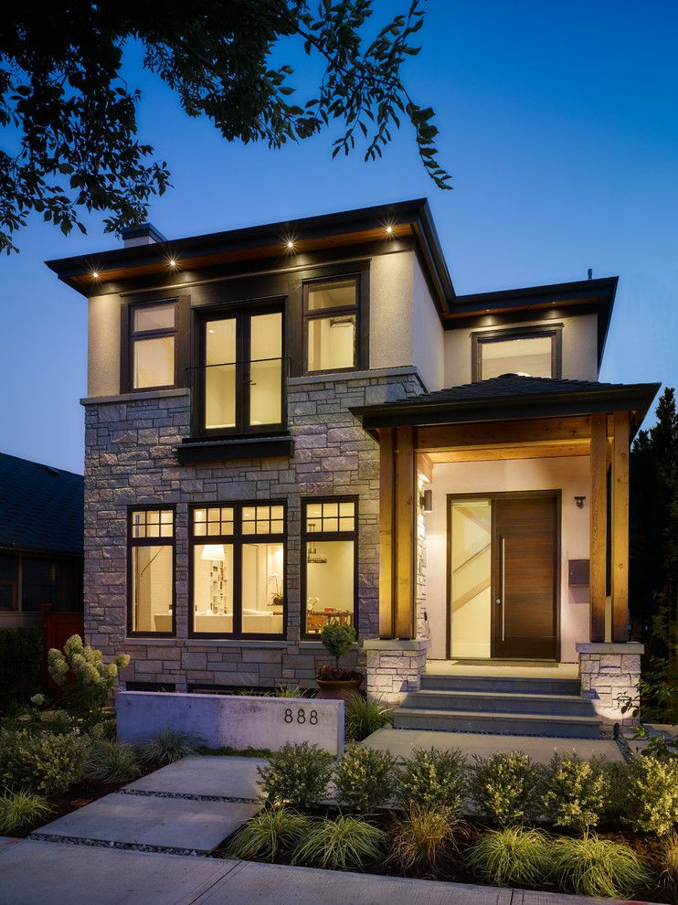 Wonderful Engaging Modern Home Design Home Remodeling Vancouver Craftsman Address  Numbers Entry Landscape Night Lighting Pavers Porch