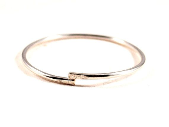 bangles jewelry product double shippingf silver slippy free round f bangle open sterling thick