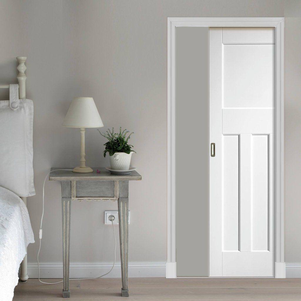 Single Pocket Dx 1930 S Primed Panel Door Sliding Doors Interior Pocket Doors Bathroom Glass Pocket Doors