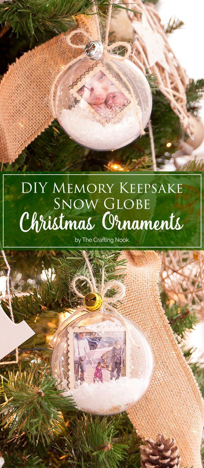DIY Memory Keepsake Snow Globe Christmas Ornaments | *{TCN} DIY ...