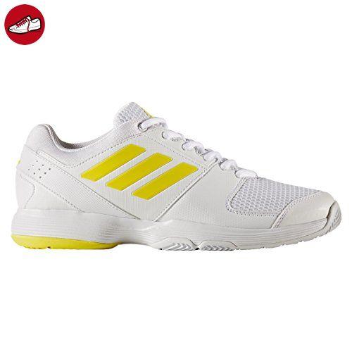 online retailer 54563 4a5cd adidas Damen Barricade Court Tennisschuhe, Gelb (Footwear WhiteBright  YellowFootwear White