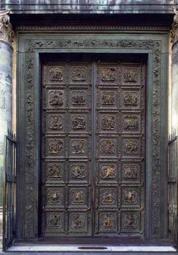 The North Door of the Baptistry in Florence by Ghiberti week 13 cycle 1 & Baptistery of Florence (north door) | porta | Pinterest | Lorenzo ...