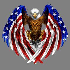 Eagle American Flag Wings Patriotic Tattoos Patriotic