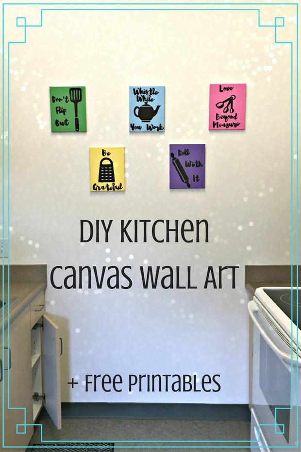 DIY Kitchen Canvas Wall Art