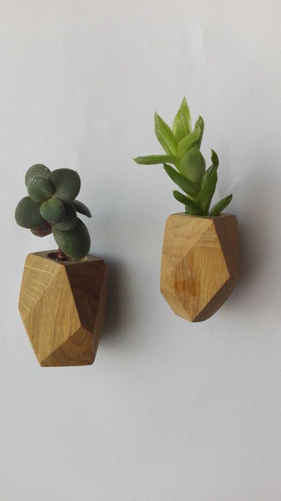 Air Plant Holder Succulent Planter Handmade Magnetic Planter