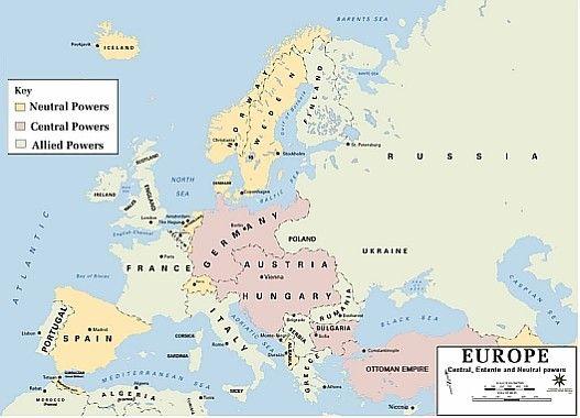 фонд стратешке културе Strategic Culture Foundation Europe Map Allied Powers European History