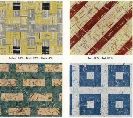 40 Patterns For Vinyl Floor Tiles From The 40s Mid Century Wall Simple Linoleum Patterns