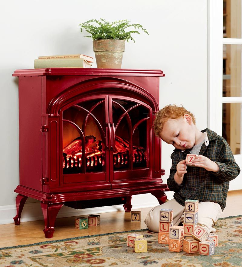 After coveting the shiny red electric stove space heaters ...