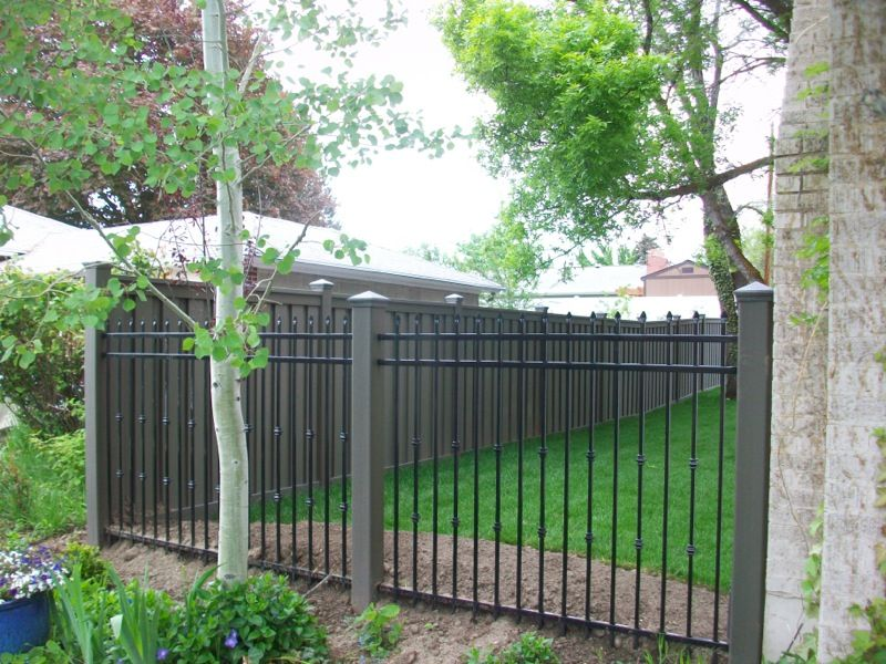 wrought iron privacy fence. Get Creative - Trex Fencing, The Composite Alternative To Wood \u0026 Vinyl. Fence Styles, Wrought Iron Privacy