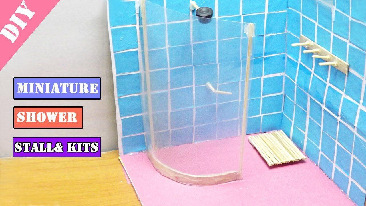 DIY Miniature Shower Stalls & Kits | Dollhouse Ideas | Projeto ...