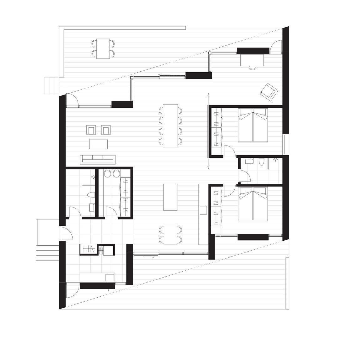 Great Architekturplan, Zeitgenössische Architektur, Perspektivisches Zeichnen,  Grundrisse, Hauspläne, Villen, Layout, Projekte