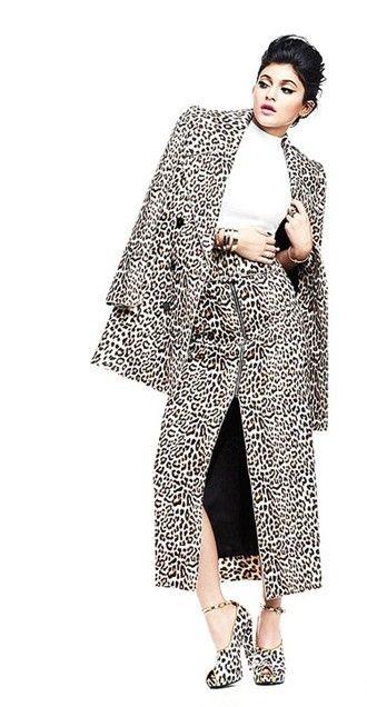 c8a64429860d skirt maxi skirt coat leopard print kylie jenner fall outfits top ...
