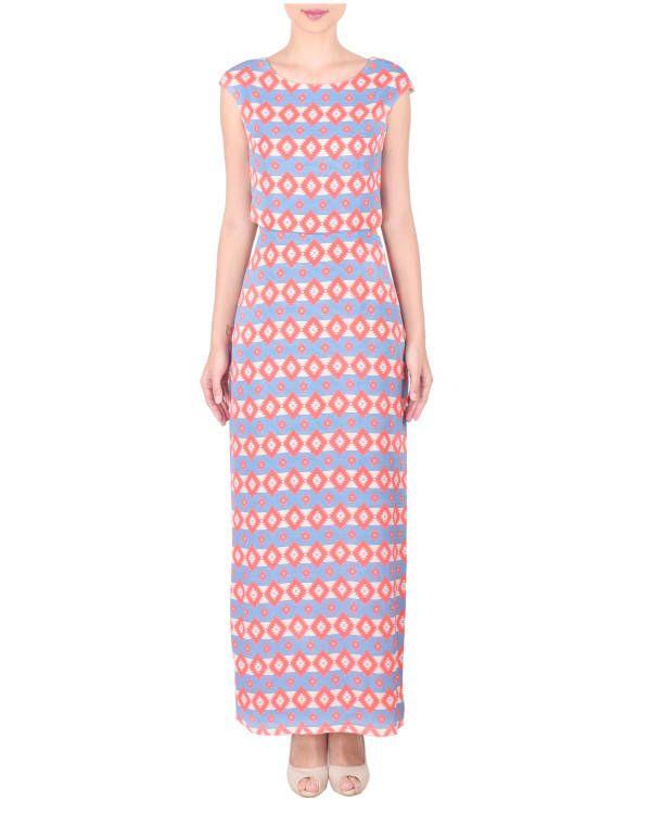 Moss crepe long ankle length dress |  Shop now: www.thesecretlabel.com