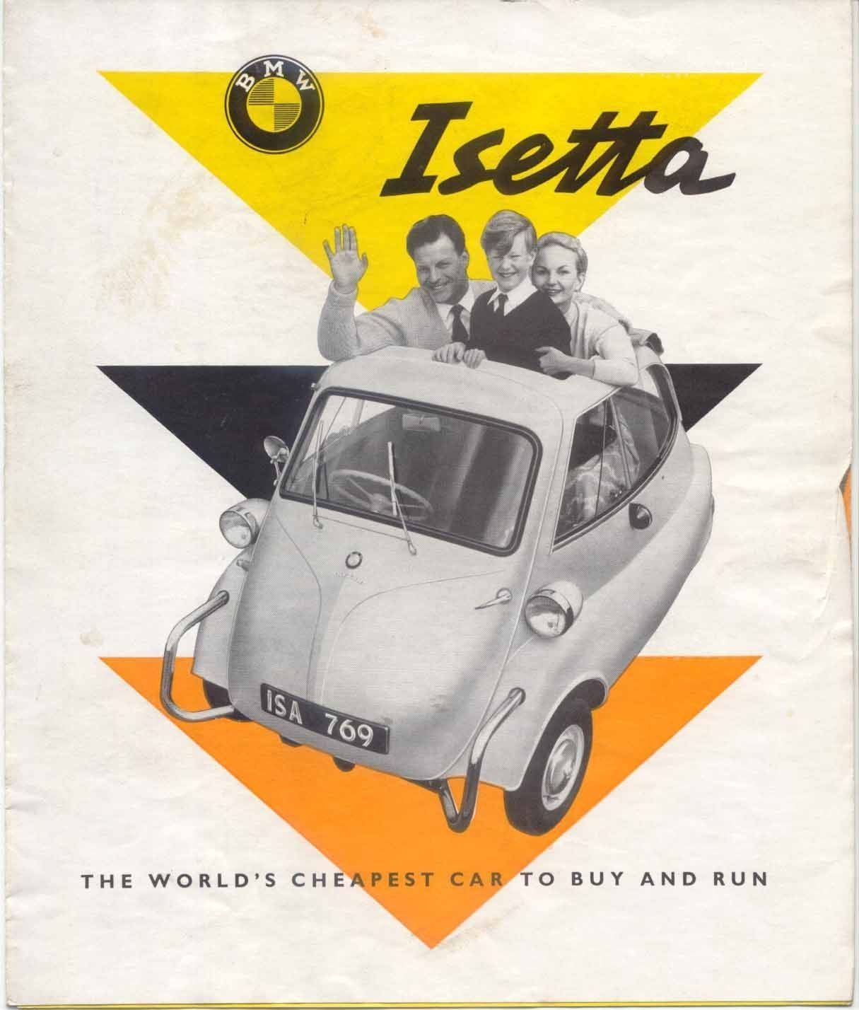 BMW Isetta Bubble Car 295cc Late 1950s Original UK Market Foldout