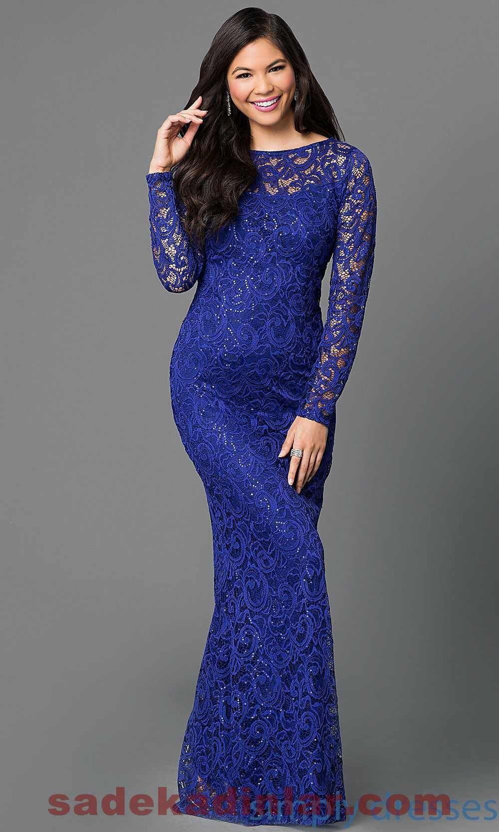Pictures gece elbise modelleri 2013 uzun dekolteli gece elbise modeli - Dantel Detayl Gece Elbiseleri 2018 2019 Saks Abiye Modelleri