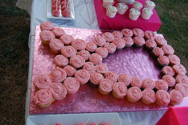 pink ribbon of cupcakes by Cakes with Class, via Flickr