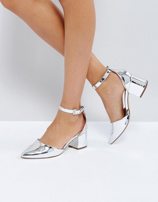 a354947d762 Call It Spring Trivio Silver Block Heeled Shoes