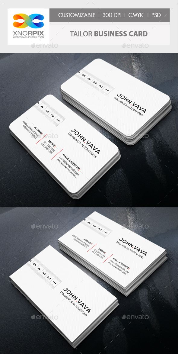 Tailor Business Card | Business cards, Business and Adobe