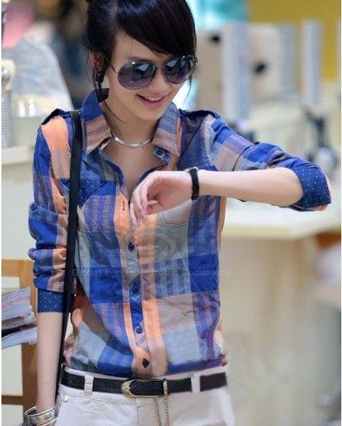 Fashionable Button Down Plaid Long Sleeves Shirt For Women via Sammydress.com #wishlist