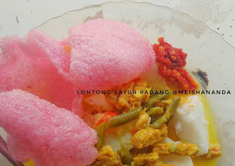 Resep Lontong Sayur Padang Oleh Meisha Resep Resep Sayuran Resep Masakan