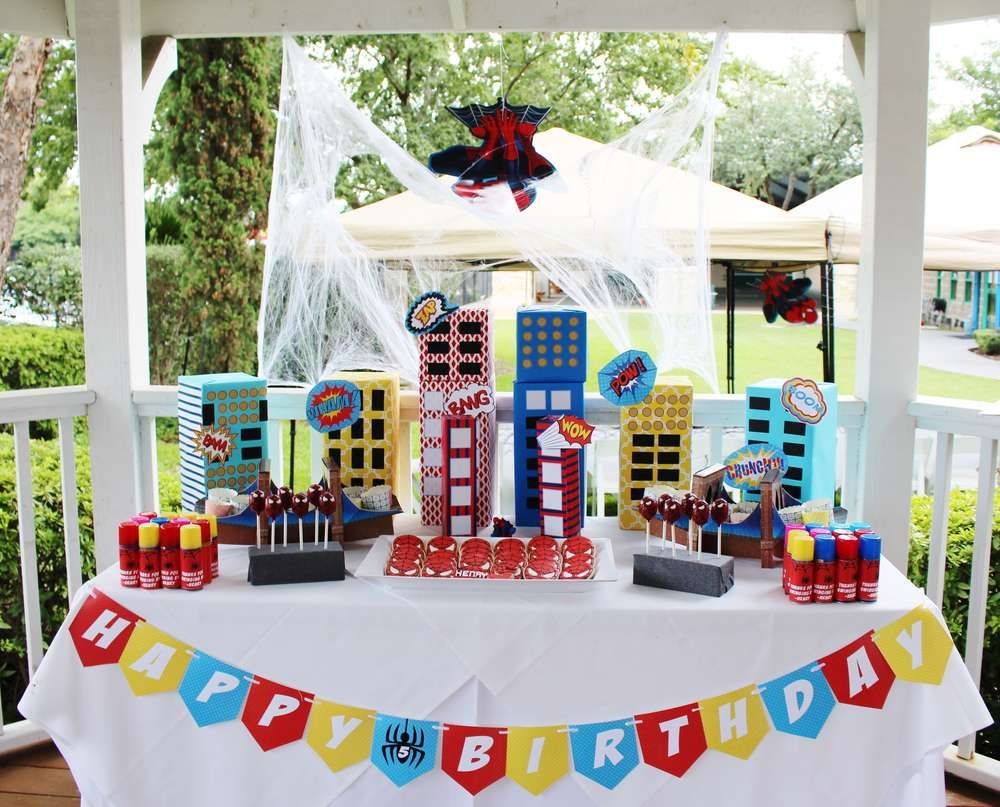 Spiderman Birthday Party Ideas   Photo 1 of 19   Catch My Party