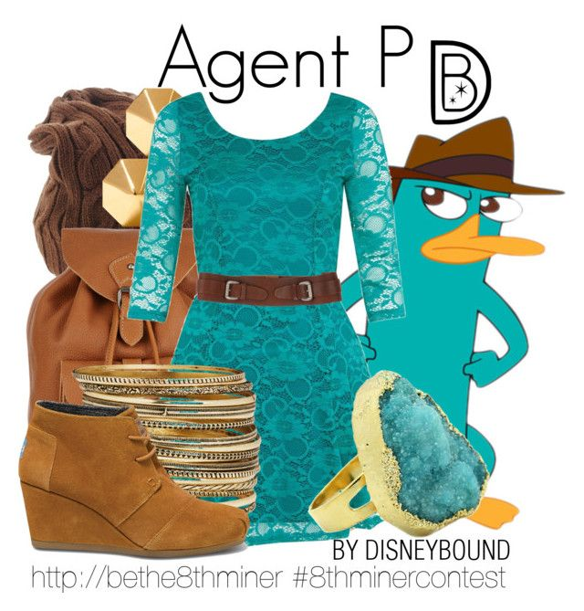 """""""Agent P - Be the 8th Miner"""" by leslieakay ❤ liked on Polyvore featuring November, Jigsaw, Rebecca Minkoff, Jeckerson, Eye Candy, H&M, TOMS, women's clothing, women and female"""
