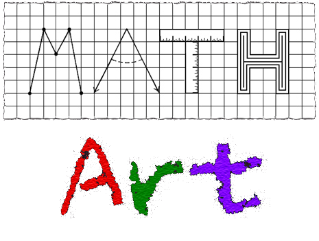 The main purpose of Math Art is to help teachers introduce, reinforce, or expand upon the topics their students are required to learn. Additionally, by blending the subjects of mathematics and art, Math Art is capable of motivating students, increasing student retention of knowledge, and assisting the instruction of visual learners, kinesthetic learners, and English language learners.