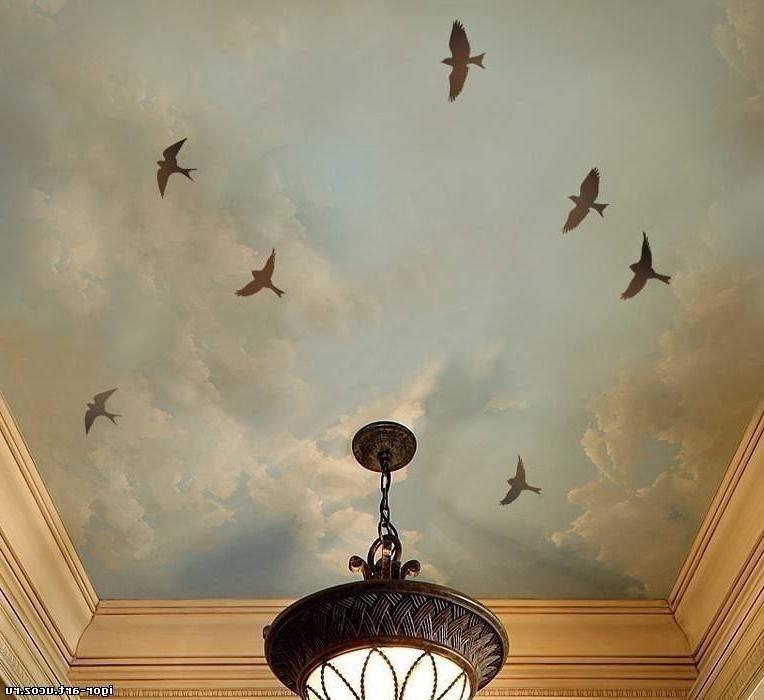 На потолок фото трафареты Декупаж интерьер Pinterest