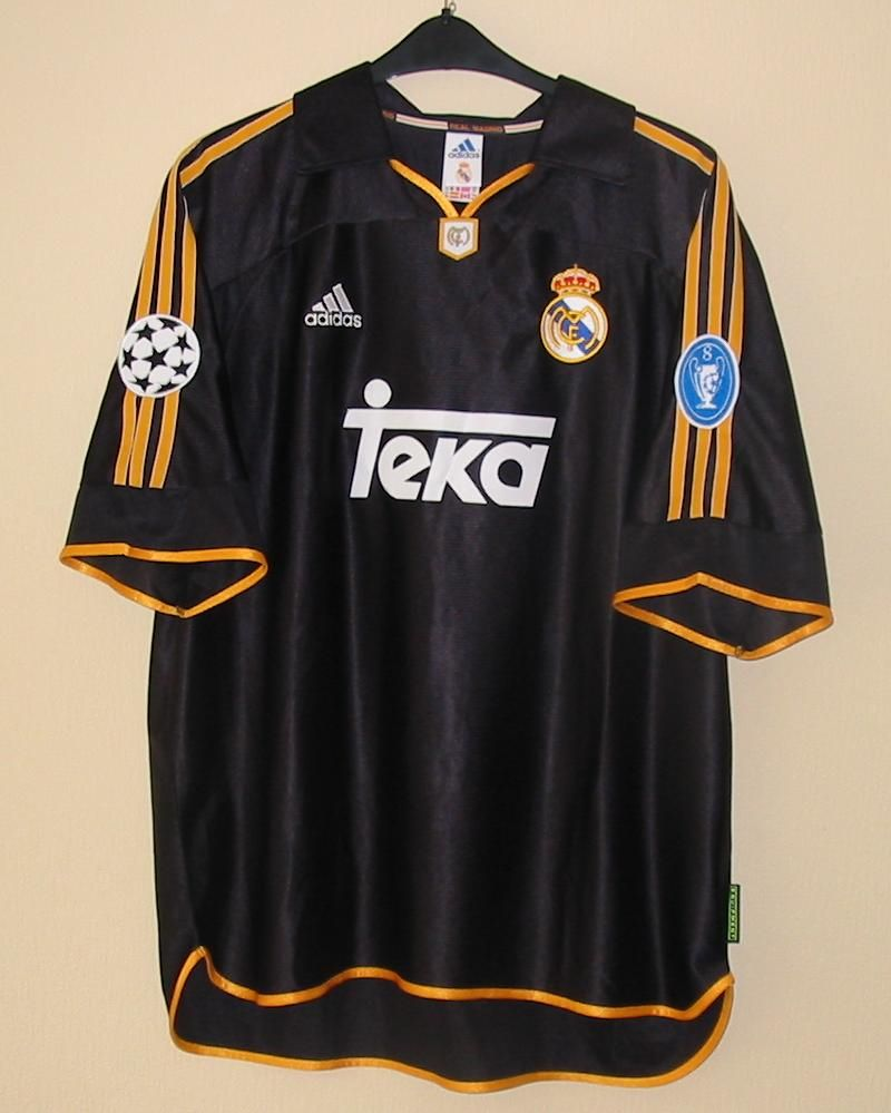 9a9f5c1e3 Real Madrid 99-00 s Champions League Final Kit Classic Football Shirts