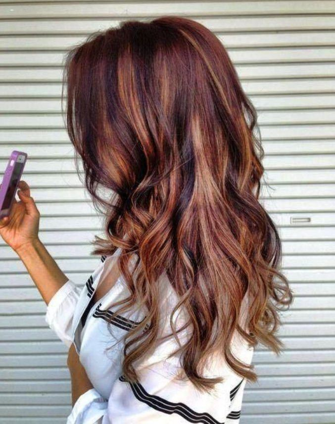 Auburn Hair Color With Lowlights Hair Color Hair Hair Styles