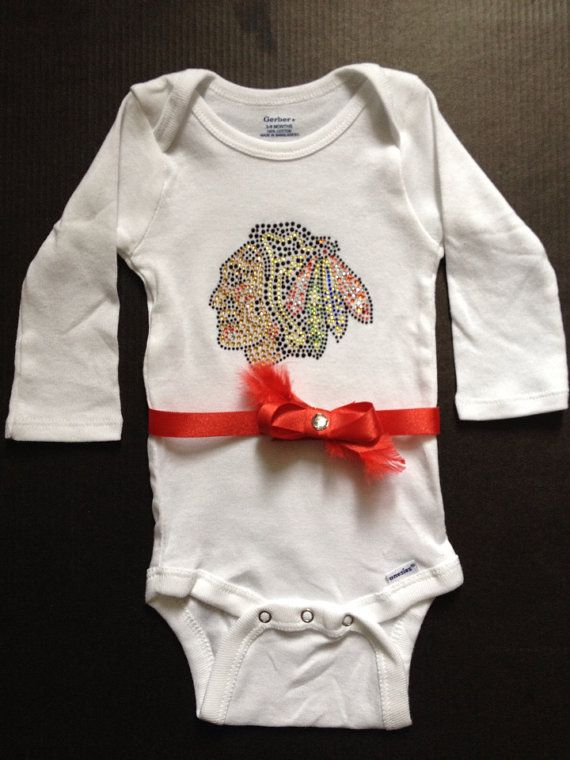 Sporting Goods Smart Nhl Chicago Blackhawks Bodysuit Romper Jumpsuit Outfits 3 Piece Set Newborn Kids Clothing, Shoes & Accessories
