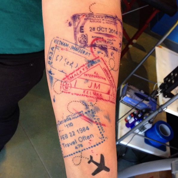 45 Inspirational Travel Tattoos That Are Beyond Perfect Body Art