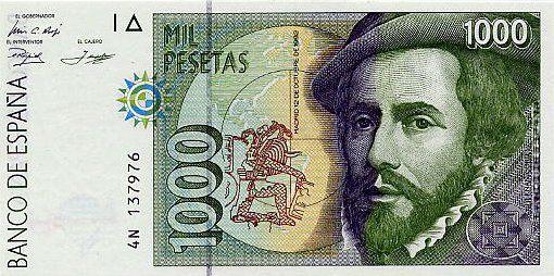 Hernan Cortes Spanish 1000 Peseta