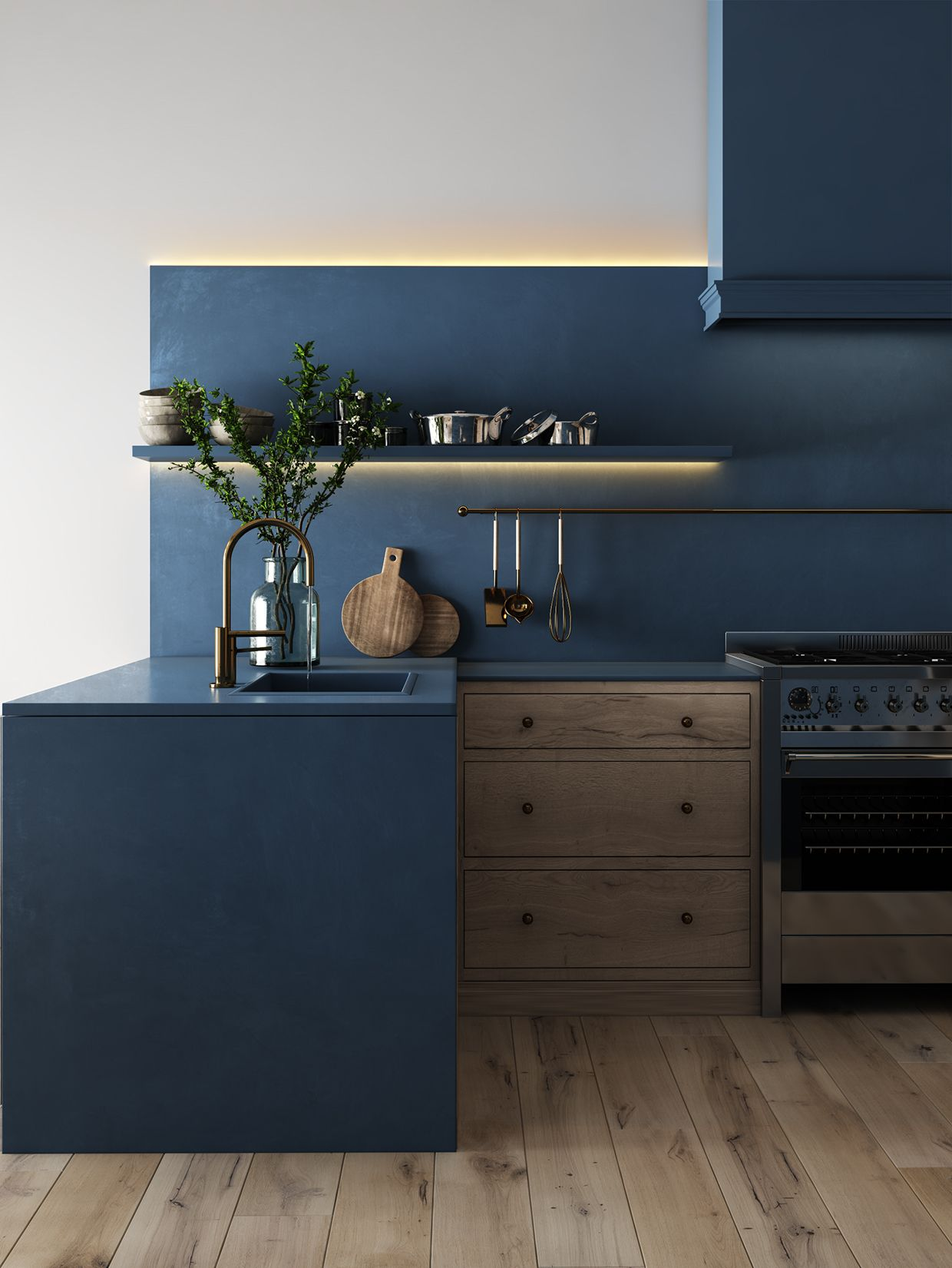 Cuisine Bleu Nuit New 2018 Pinterest Kitchens Interiors And House