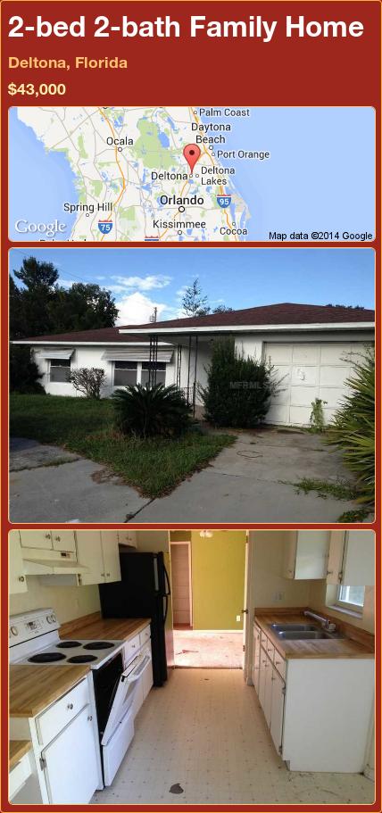 2-bed 2-bath Family Home in Deltona, Florida ►$43,000 #PropertyForSale #RealEstate #Florida http://florida-magic.com/properties/74433-family-home-for-sale-in-deltona-florida-with-2-bedroom-2-bathroom