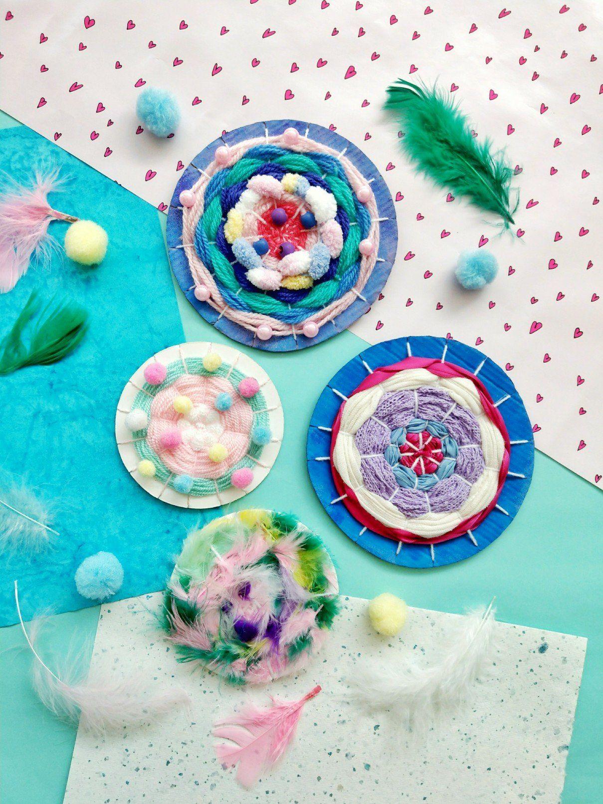 Tissage avec des enfants – idée de bricolage simple avec instructions – petit amour   – Bastelideen kinder