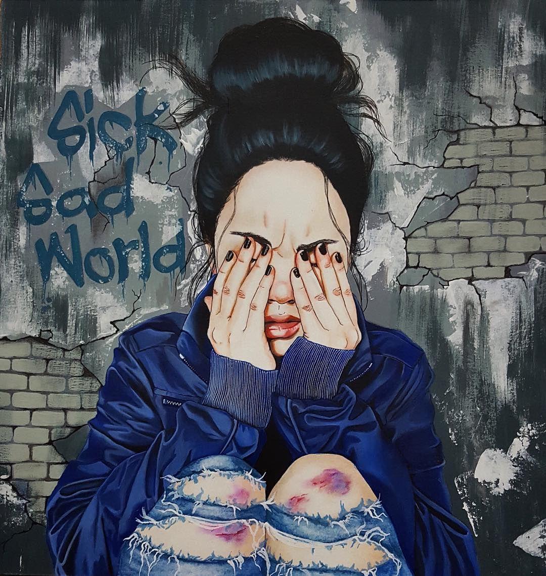 "Harumi Hironaka. ""Sick, Sad World"" | Drawing | Art ..."