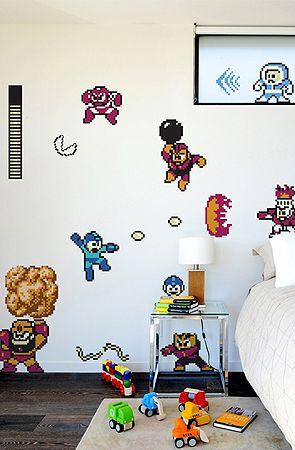The Mega Man Re-Stik Wall Decal by Blik