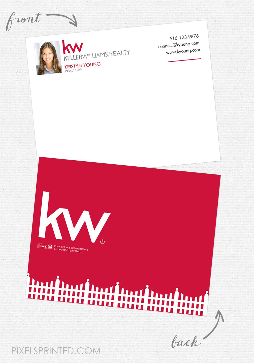 KW Note Cards Keller Williams Stationery Real Estate Realtor Thank You