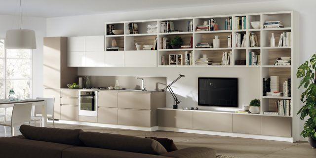 14 soluzioni coordinate di cucina soggiorno | Cucina ...