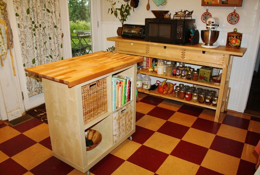 Kallax with worktop Küche Pinterest Ikea hack, Kitchens and - ikea sideboard küche