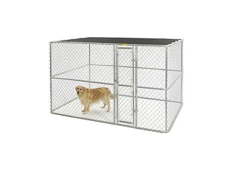 Midwest K9 Chain Link Portable Yard Dog Kennel 10 X10 X6 In 2020 Dog Kennel Wooden Dog Kennels Portable Dog Kennels