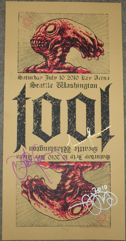 Someone Give Me Us 999 99 Already Tool Silkscreen Concert Poster Seattle 2010 Adam Jones Band Signed Concert Poster Art Concert Posters Tool Band Artwork