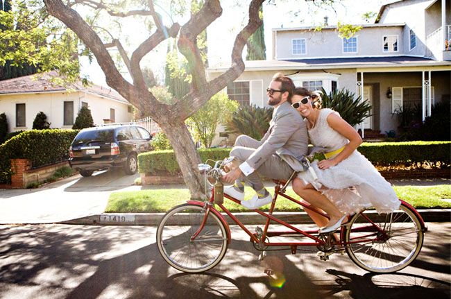 Wedding Trends For Stylish Creative Brides Southern California Wedding Inspirations For The Modern Bri Bike Wedding Bicycle Wedding Wedding Transportation